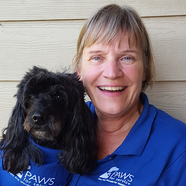 PAWS for Service Membership Coordinator Cindy and Shadow